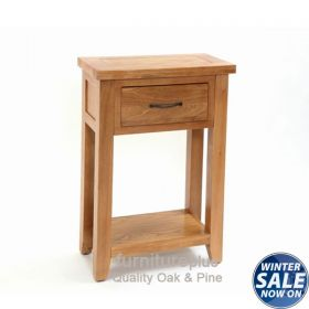 Richmond Oak Small Console Table with 1 Drawer & Shelf KT308